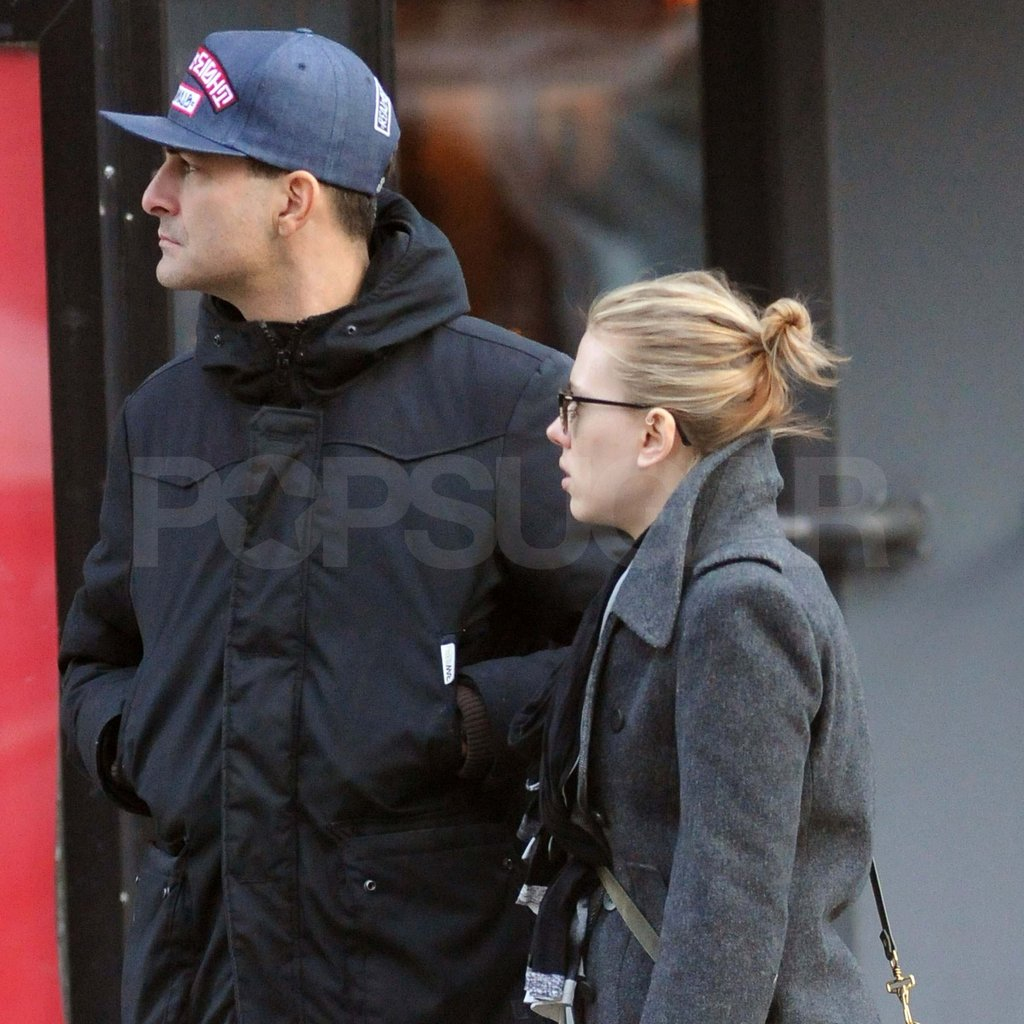 Scarlett Johansson walking with a new man in NYC.