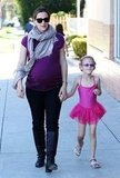 Jennifer Garner and Violet Affleck held hands on their way to ballet class.