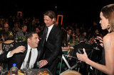 Angelina and Brad were seated with Brad's Moneyball costar Jonah Hill.