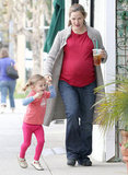 Jennifer Garner and Seraphina Affleck held hands in LA.