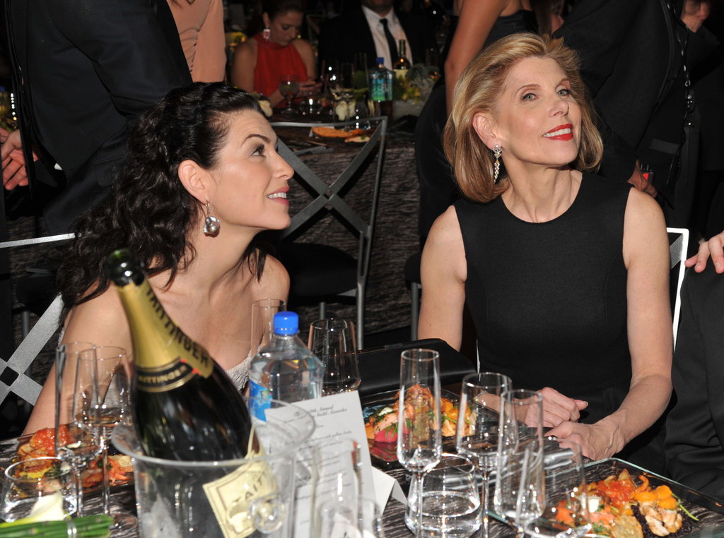 Julianna Margulies and Christine Baranski sat together.