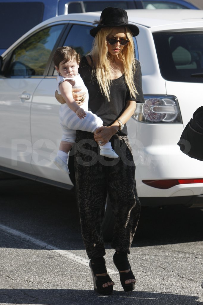Rachel Zoe and son Skyler in LA.