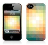 The Echos HardCase ($35) for iPhone 4 comes with matching pixel wallpaper.