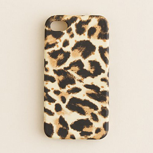 J.Crew's leopard-print iPhone 4S case ($25) is superchic.