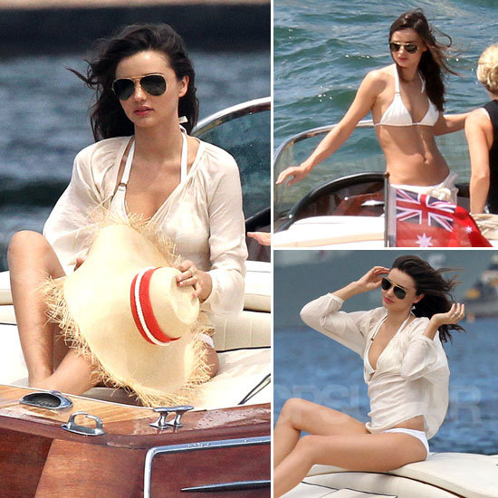 Miranda Kerr White Bikini January 2012