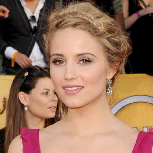 Glee's Dianna Agron's 2012 SAG Awards Hair and Makeup Look