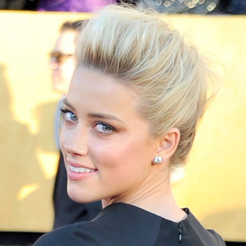 Amber Heard's Hair and Makeup at the 2012 SAG Awards