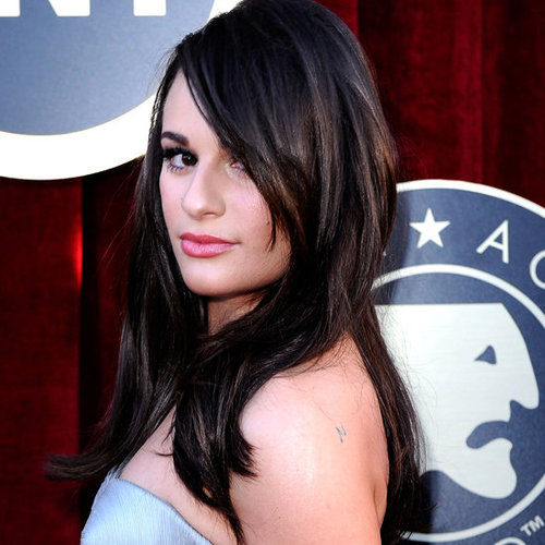 Lea Michele's Hair and Makeup at the 2012 SAG Awards