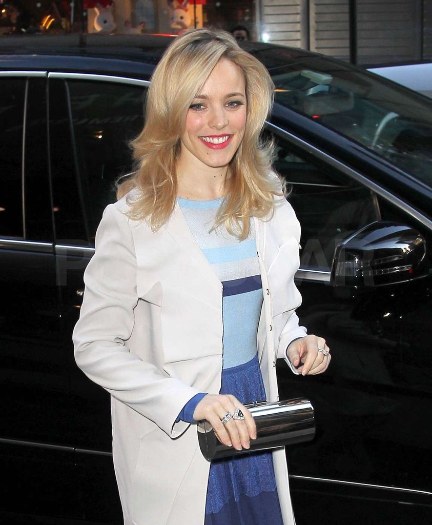 Rachel McAdams flashed a smile.