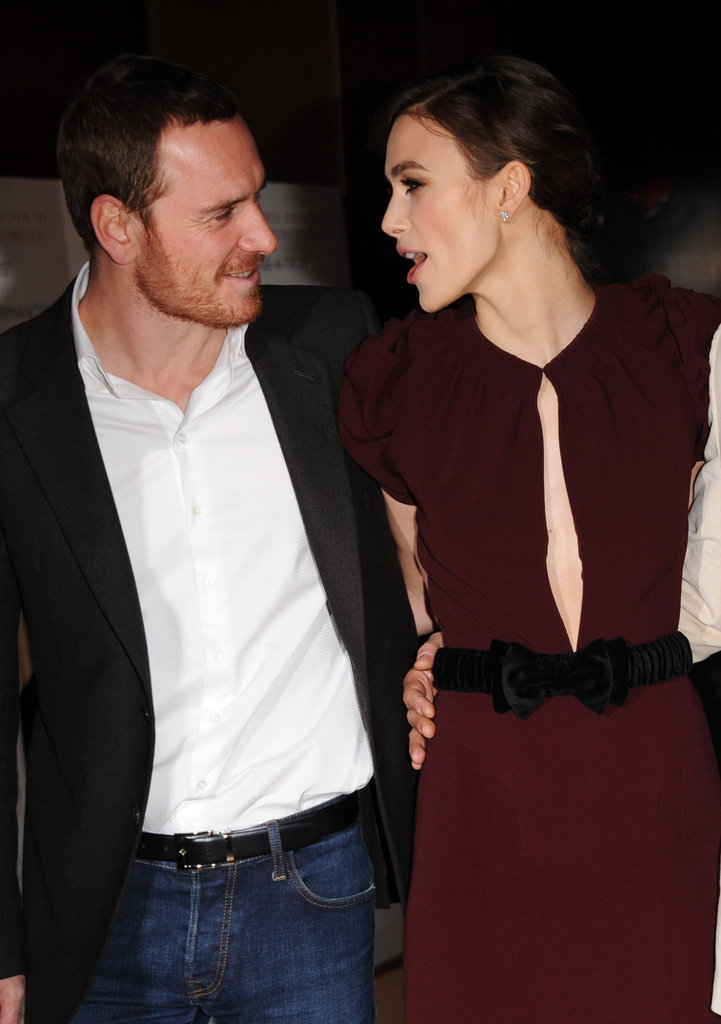 Michael Fassbender chatted with Keira Knightley.