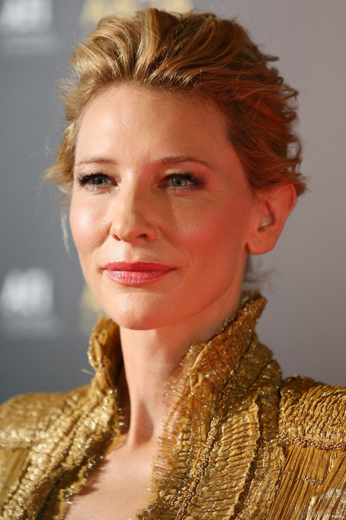 Cate Blanchett showed off the gorgeous high collar on her Alexander McQueen dress.