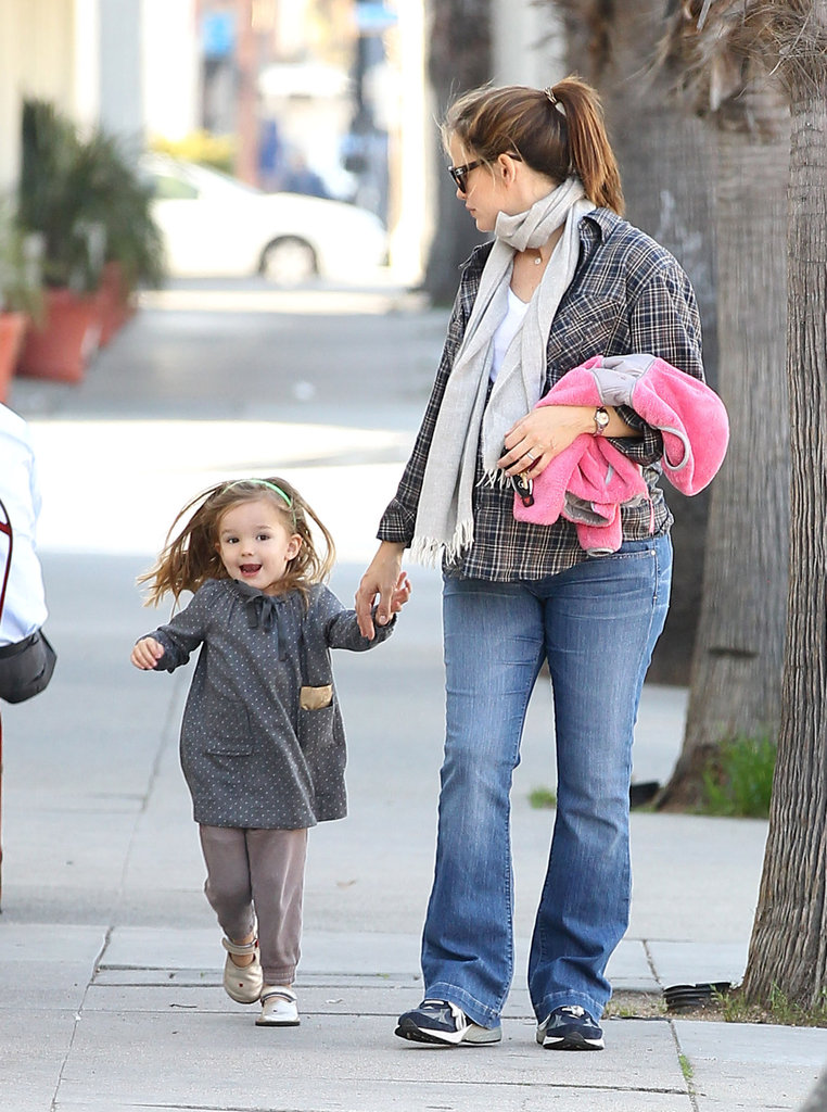 Jennifer Garner and Seraphina Affleck out in LA.