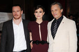Michael Fassbender, Keira Knightley, and Viggo Mortensen premiere A Dangerous Method.
