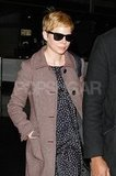 Michelle Williams rocked sunglasses on the plane.