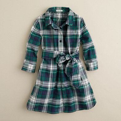 J.Crew Girls' Shirtdress in Plaid ($68)