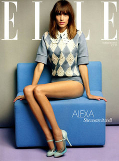 Alexa Chung in Elle UK March 2012