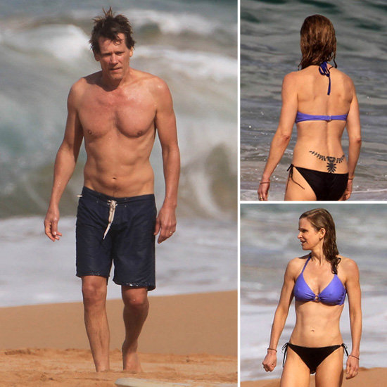 Shirtless Kevin Bacon and Kyra ...
