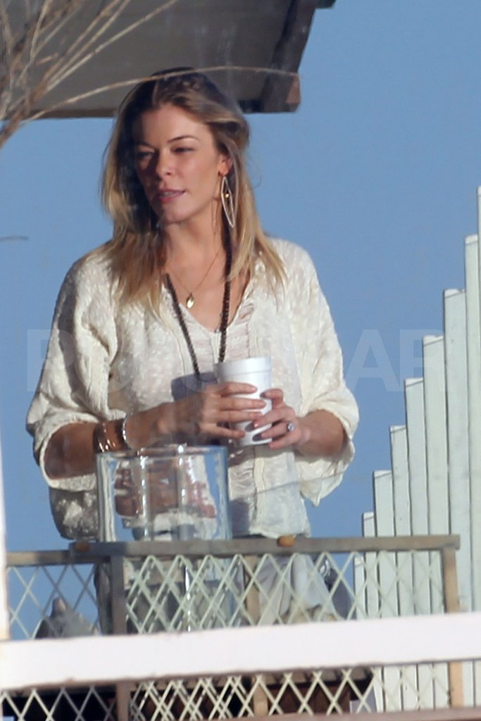 LeAnn Rimes threw on a caftan at the beach.