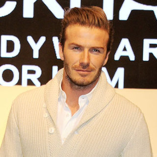 David Beckham at His Underwear Launch in London (Video)