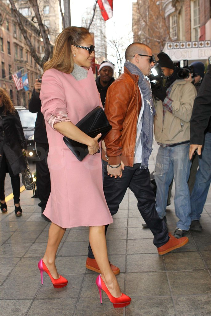 J Lo with her boyfriend Casper in NYC.