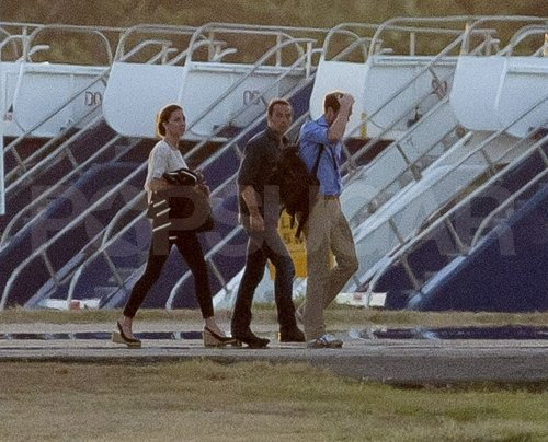 Prince William and Kate Middleton arrived in St. Lucia with James Middleton.