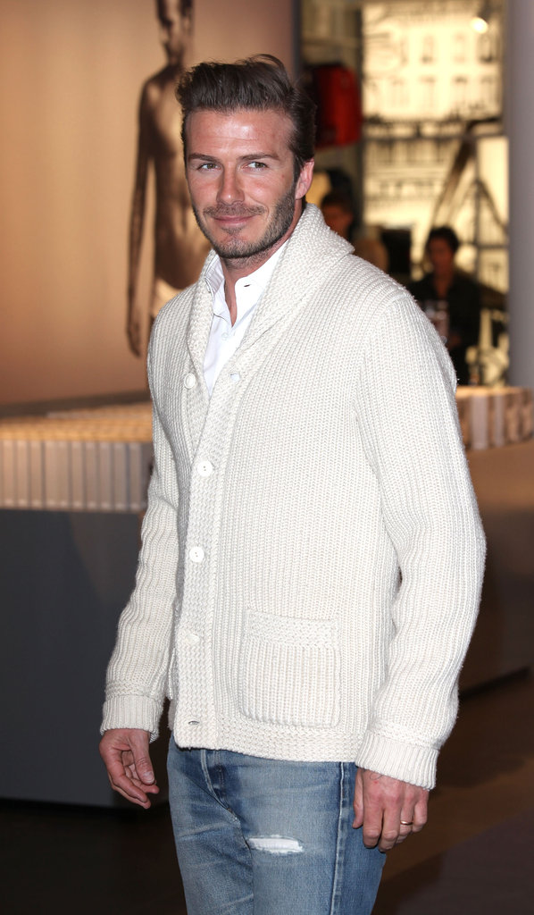 David Beckham at H&M.