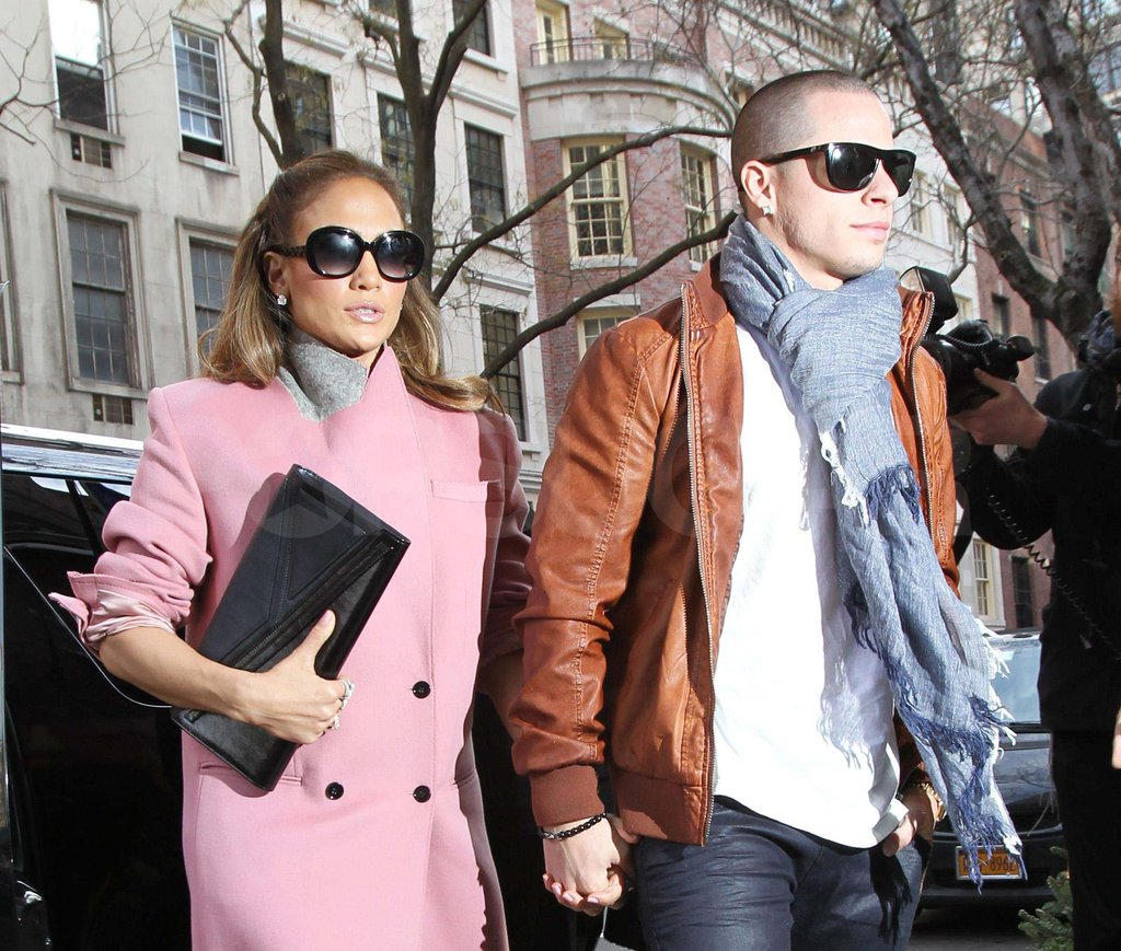 Jennifer Lopez with Casper Smart in NYC.