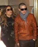 Jennifer Lopez and Casper Smart in NYC.