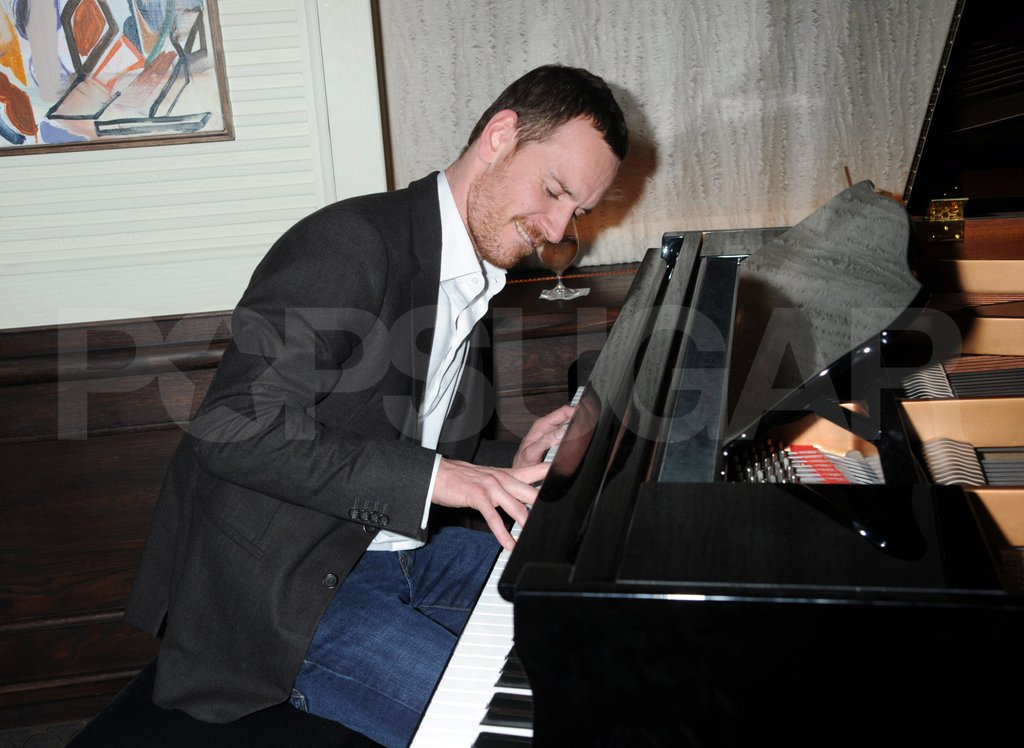 Michael Fassbender played the piano.