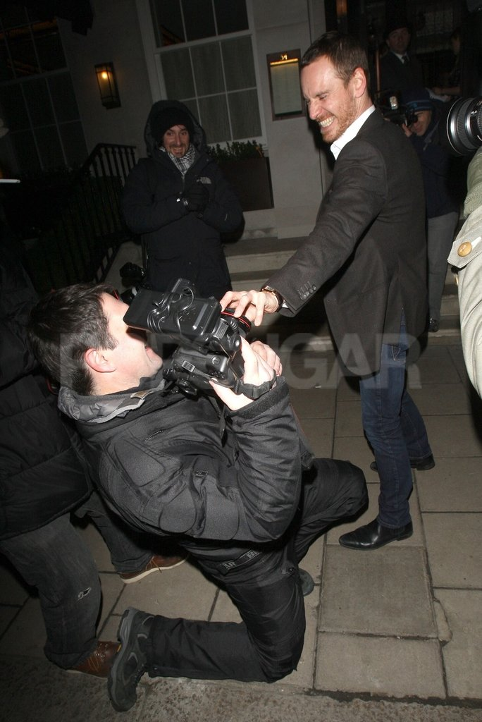 Michael Fassbender Gets Wild at His Dangerous Method Afterparty