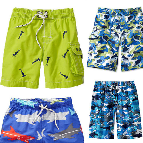 Boys Swim Trunks With Sea Animals