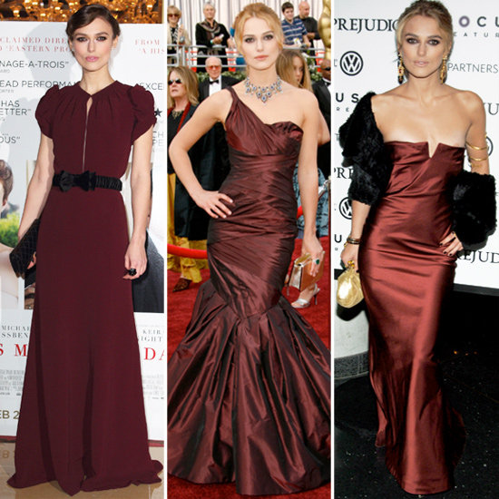 Which Burgundy Dress Do You Like Best on Keira Knightley?