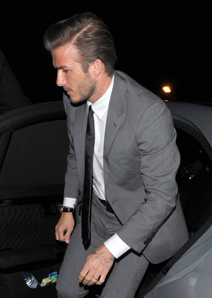 David Beckham walked to London's The Arts Club.