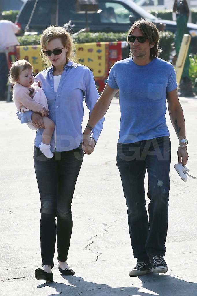 Nicole Kidman and Keith Urban shopped with their daughter Faith Urban.