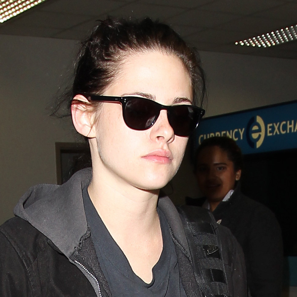 Kristen Stewart wore shades inside LAX.