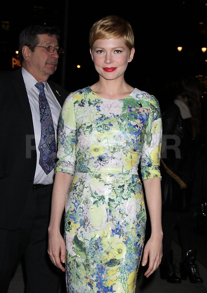 Michelle Williams left Late Show.