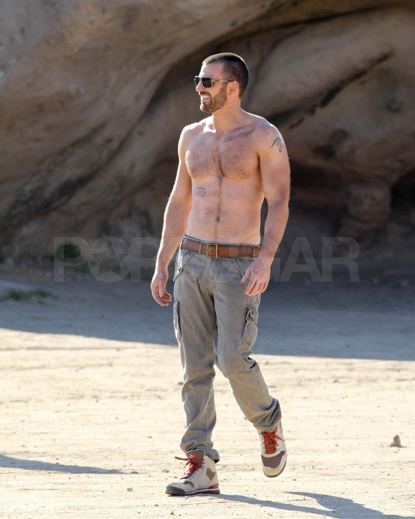 Chris Evans shirtless.
