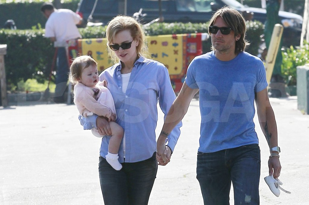Nicole Kidman spent a day in LA with Faith and Keith Urban.