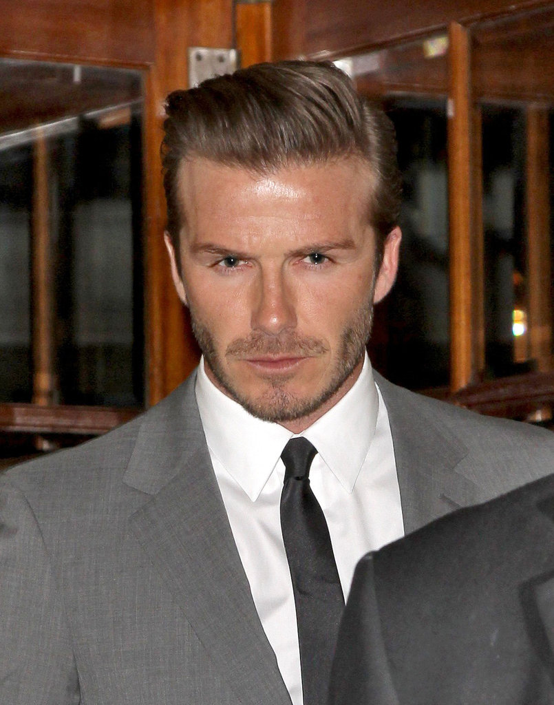 David Beckham left London's Connaught hotel.