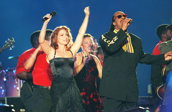 Gloria Estefan and Stevie Wonder