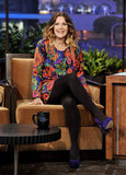Drew Barrymore took a seat with Jay Leno.