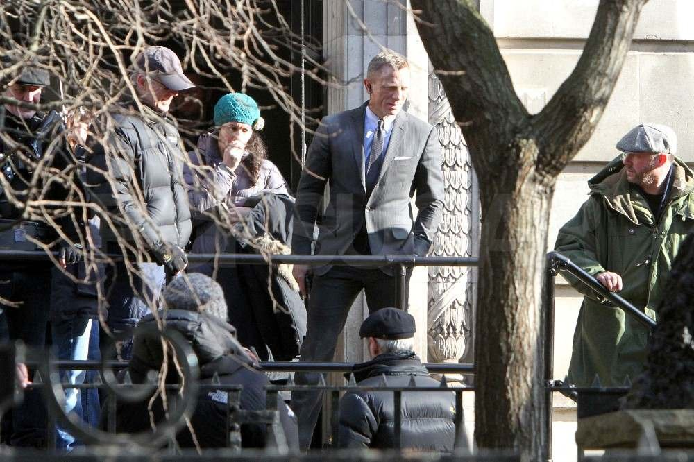 Daniel Craig on set in London.