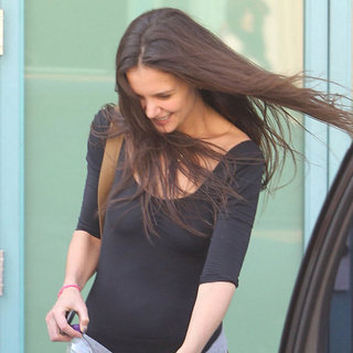 Katie Holmes in Black Clothes at Dance Class Pictures