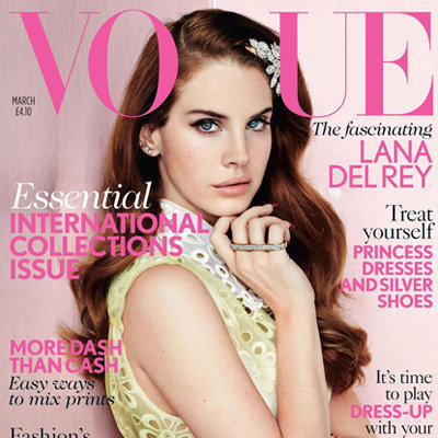 Lana Del Rey British Vogue Magazine Cover Pictures March 2012 Issue