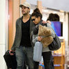 Eva Longoria LAX Pictures With Eduardo Cruz
