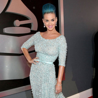 Katy Perry Pictures Elie Saab at Grammys 2012