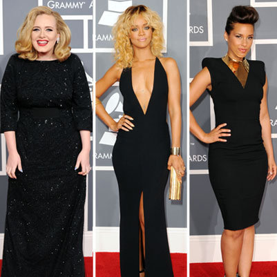 Red Carpet Dress Pictures at Grammys 2012