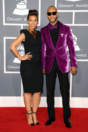 Alicia Keys posed with husband Swizz Beatz.