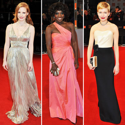 Celebrities at BAFTA Awards 2012