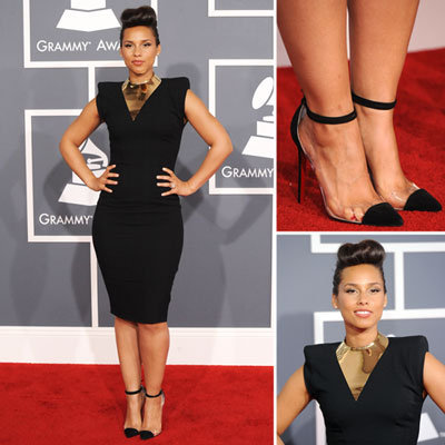 Alicia Keys at Grammys 2012